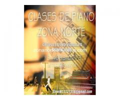 Clases de můsica zona norte. Piano, guitarra.