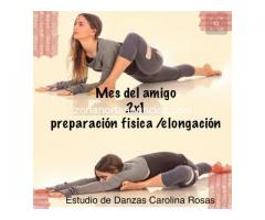 Clases de elongacion y entrenamiento fisico